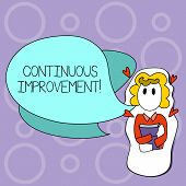 Writing Note Showing Continuous Improvement. Business Photo Showcasing Involves Small Consistent Imp poster