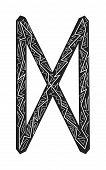 Dagaz Rune. Ancient Scandinavian Runes. Runes Senior Futarka. Magic, Ceremonies, Religious Symbols.  poster