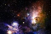 Stars, Galaxies And Nebulas In Awesome Cosmic Image. Elements Of This Image Furnished By Nasa poster