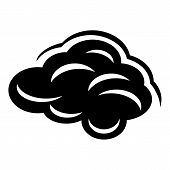 Climate Cloud Icon. Simple Illustration Of Climate Cloud Icon For Web poster