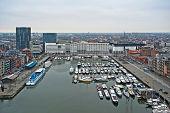 Постер, плакат: Городские Панорама города Антверпен Бельгия