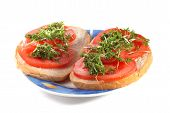 Tomato And Cress Sandwiches