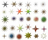 stock photo of dtp  - metallic stars collection - JPG