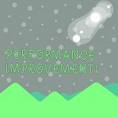 Handwriting Text Writing Perforanalysisce Improvement. Concept Meaning Improve Productivity Enhance  poster