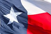 stock photo of texas star  - Close up of Star on Texas flag