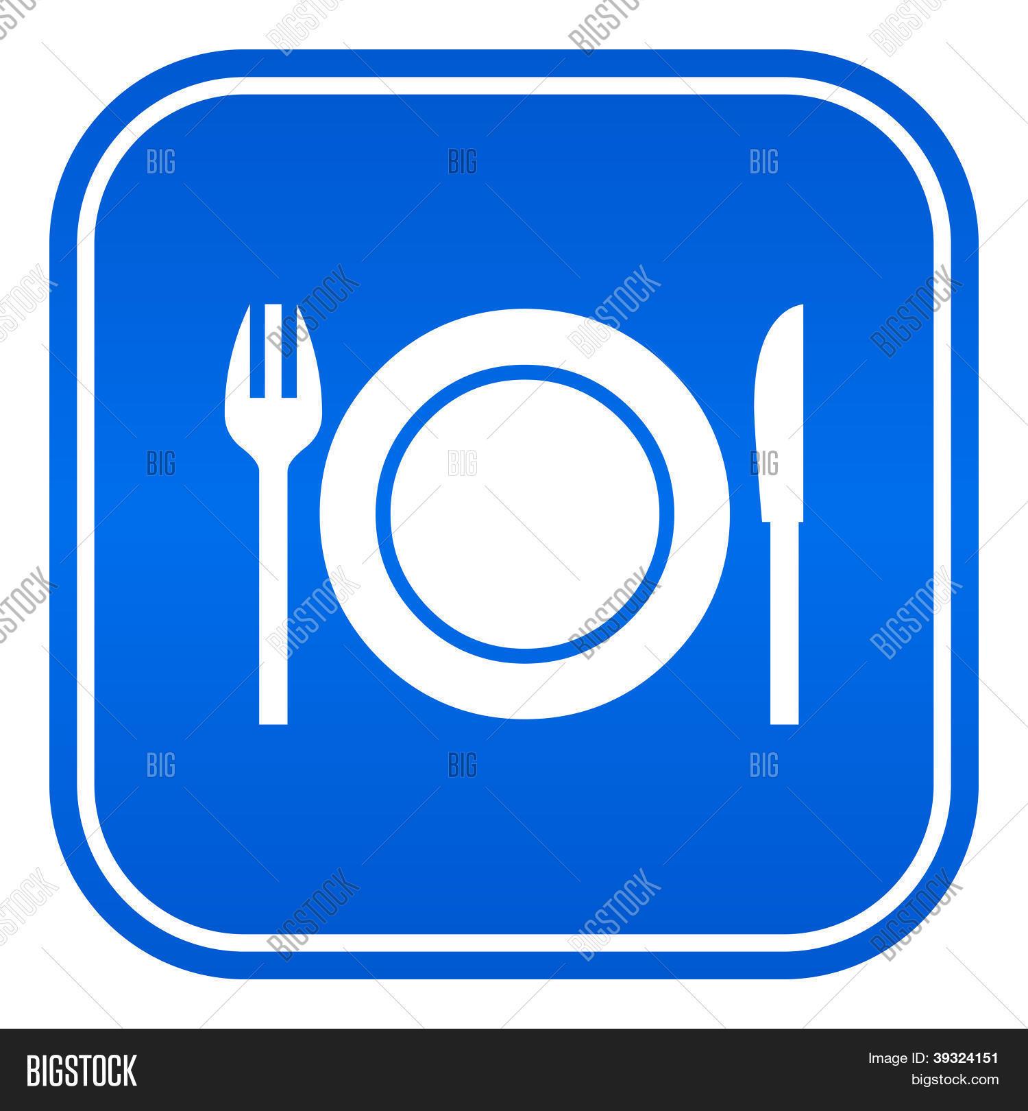Restaurant vector sign vector photo bigstock for Comedor vector