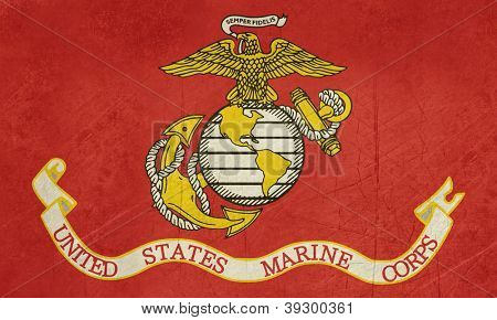 Grunge illustration of the United States Marine Corps flag
