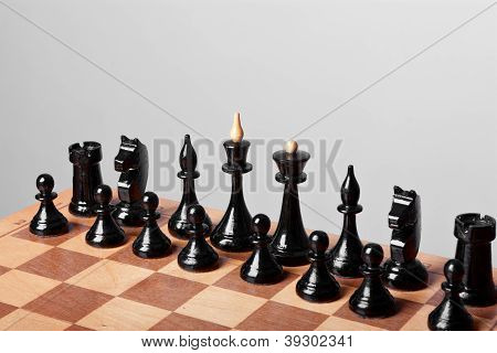 chess on grey background