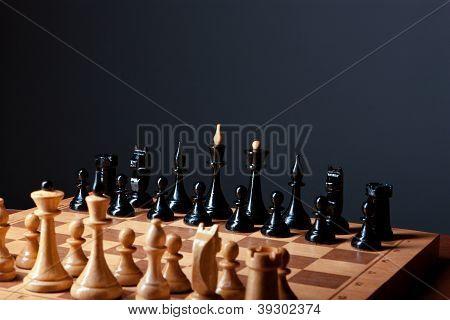 chess board closeup