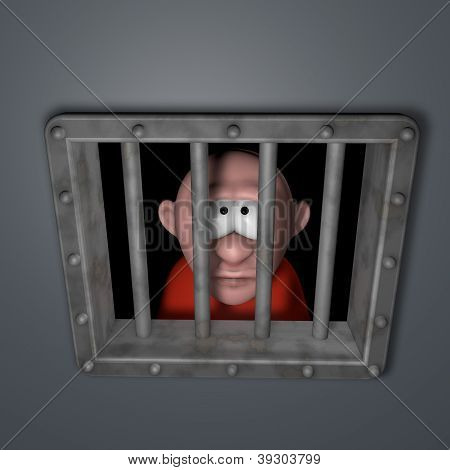 Cartoon Guy In Jail