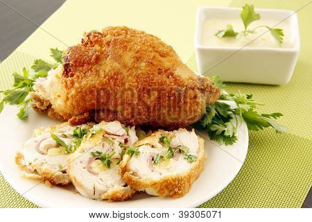 Golden Stuffed Chicken