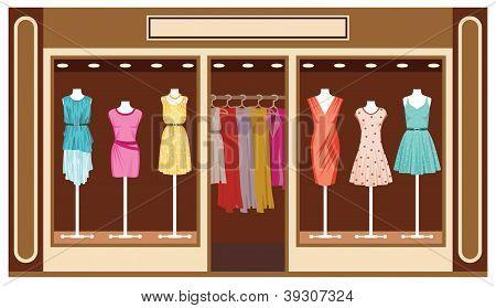 Boutique. Women's Clothing Shop