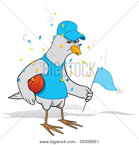 Basketball fan bird