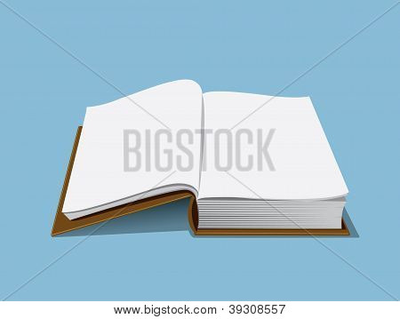 Empty book illustration
