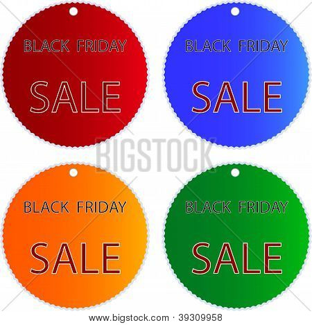 Black Friday Sale On Muti Colors Circle Labels