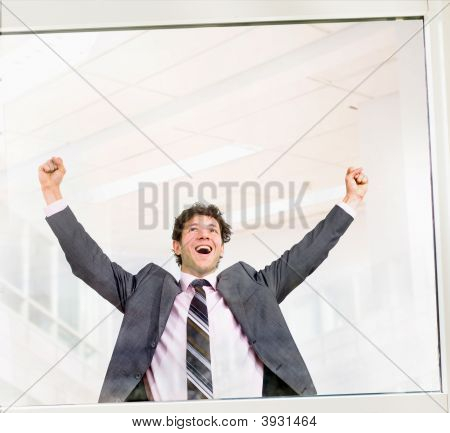 Happy Successful Businessman