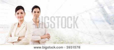 Business Banner - Two Businesswomen