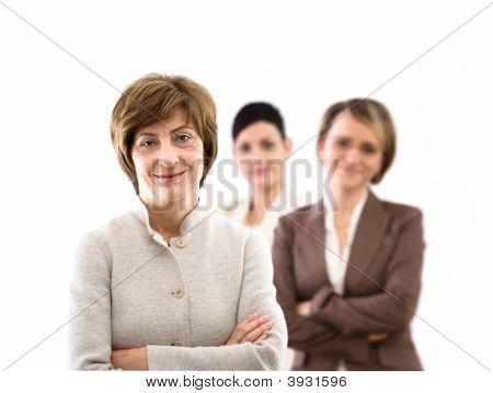 Team Of Businesswomen Isolated