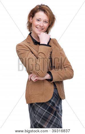 Freundlich, Casual Business-Frau