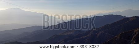 Hazy Desert Mountain Panorama