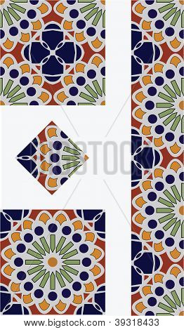 Projeto da telha estilo Talavera mexicana flor