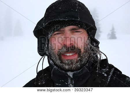Frozen Man Portrait