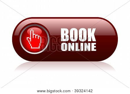 Book online vector illustration