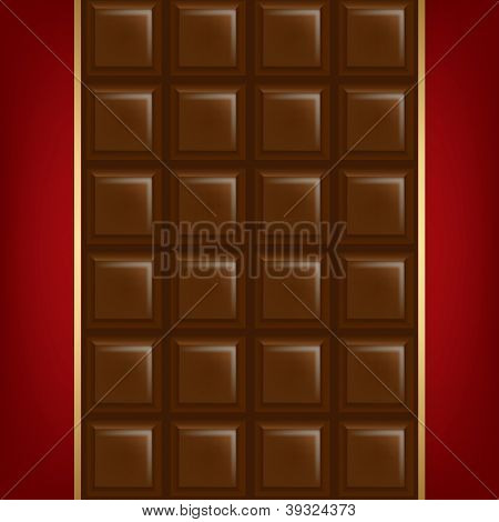 Chocolate Background With Golden Line