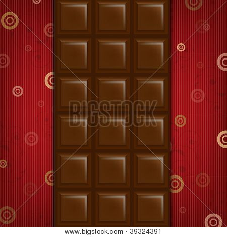 Abstract Background With Chocolate Bar