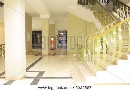 Inside Office Building