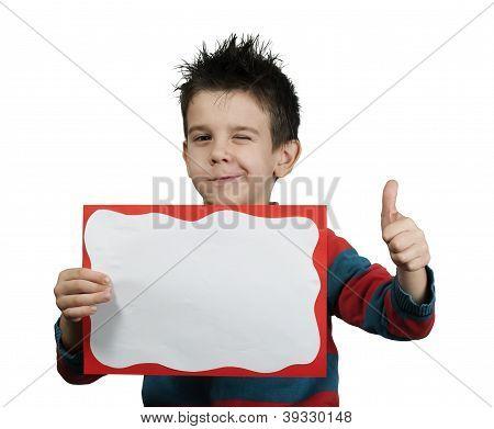 Little Boy Showing Okay Symbol