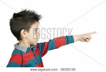 Little Boy Who Points A Finger