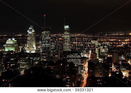 Montreal City At Night