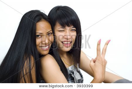 Two Young Asian Girls