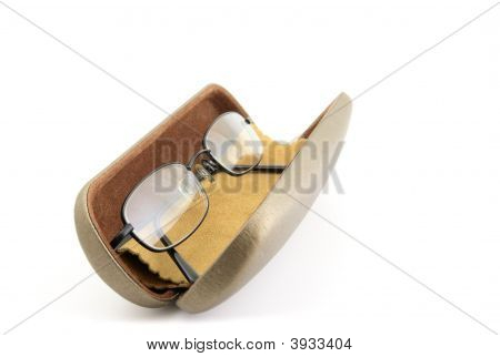 Spectacles In Case With Chamois Leather