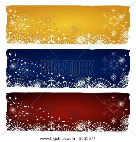 Winter  Banners.