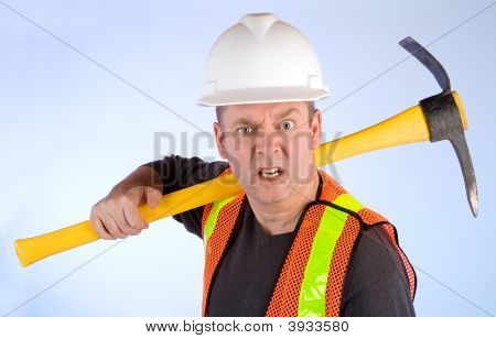 Grumpy Construction Worker