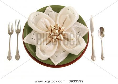 Table Setting With Bow