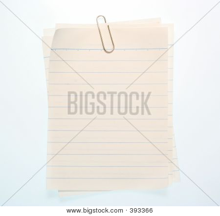 Note Paper 4 Stock