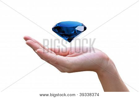 Blue Diamond In The Hands