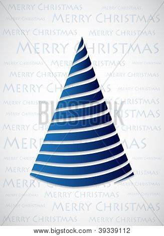 Special Blue Christmas Tree Made With Blue Ribbons