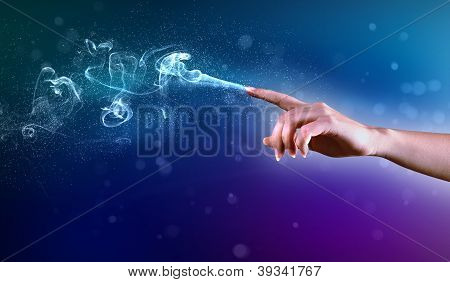 magical hands conceptual image