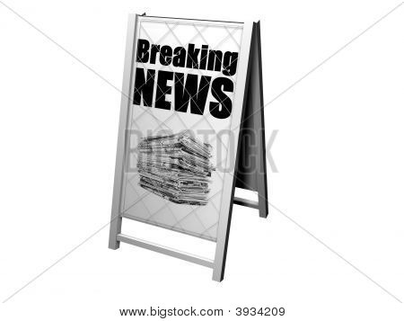Breaking News Advertising Stand