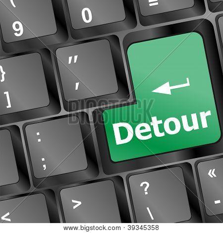 Detour Button On Keyboard