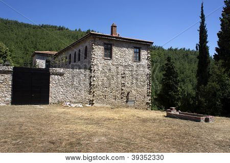 Stone House In Greek Countryside