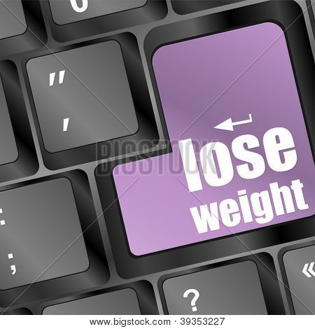 Lose Weight In Place Of Enter Computer Key