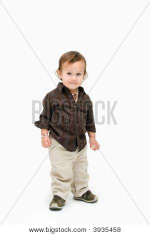 Toddler Boy Standing