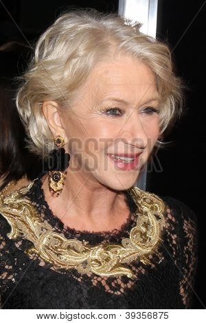LOS ANGELES - NOV 20:  Helen Mirren arrives at the Los Angeles  'Hitchcock' Premiere at Academy of Motion Pictures Arts and Sciences on November 20, 2012 in Beverly Hills, CA