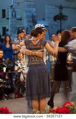 Passionate Tango In The Streets Of Lviv