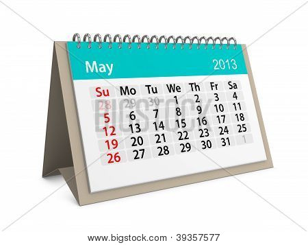 Monthly Calendar For New Year 2013. May